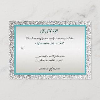 Elegant Glitter Wedding RSVP