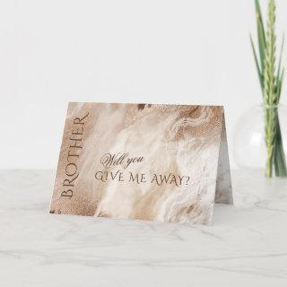 Elegant Gold Abstract Will You Give Me Away Invitations