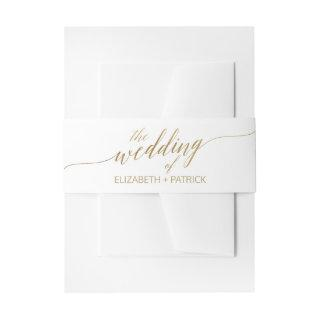 Elegant Gold Calligraphy Wedding Belly Band