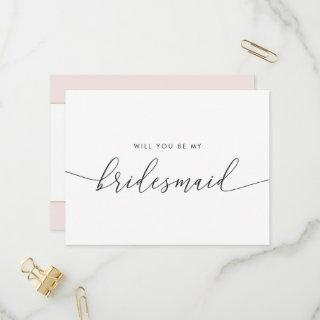 Elegant Gold Heart Will You Be My Bridesmaid  Postcard