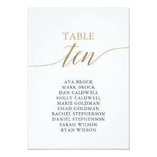 Elegant Gold Table Number 10 Seating Chart