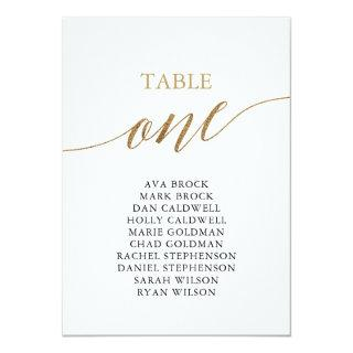 Elegant Gold Table Number 1 Seating Chart