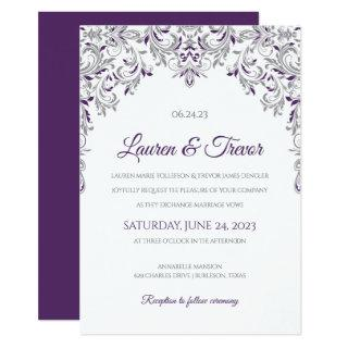 Elegant Invitation | Kate (Plum & Gray)