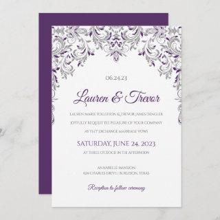 Elegant Invitations | Kate (Plum & Gray)