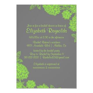 Elegant Lime Green Bridal Shower Invitations