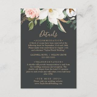 Elegant Magnolia | Black Details Enclosure Card