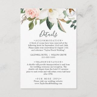 Elegant Magnolia | White Details Enclosure Card
