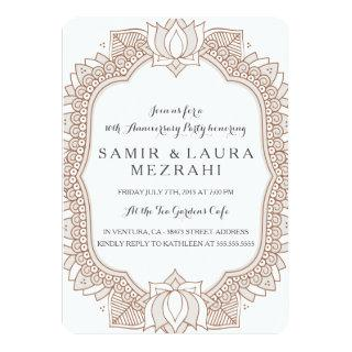Elegant Mehndi Anniversary Party Invitation