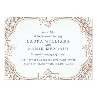 Elegant Mehndi Rehearsal Dinner Invitations