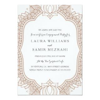 Elegant Mehndi Wedding Engagement Party Invitation