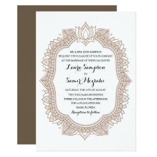 Elegant Mehndi Wedding Invitations