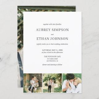 Elegant Minimalist Wedding Photo Invitations