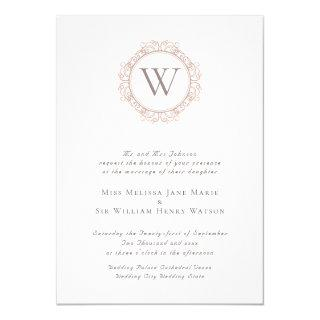Elegant Monogram Classic Wedding Invitation