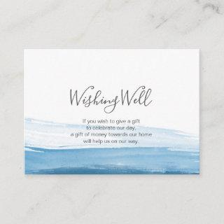 Elegant ombre Blue watercolor Wishing Well card