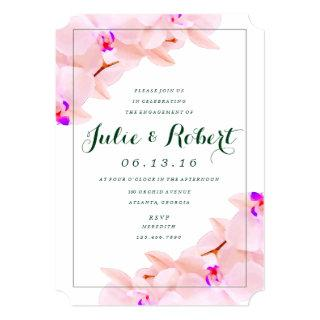 Elegant Orchid Engagement Party Invitation