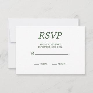 Elegant  Palm Tree  Chic Wedding RSVP