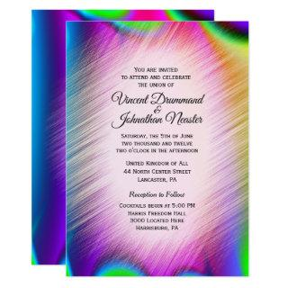 Elegant Rainbow Colors Wedding Invitations