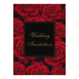 Elegant Red Rose - Wedding Invitations