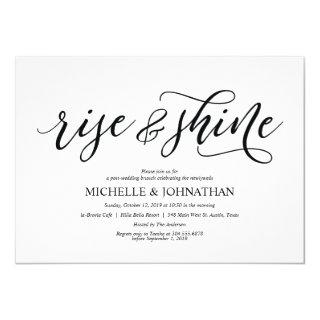 Elegant Rustic Post Wedding Brunch Invitation Card