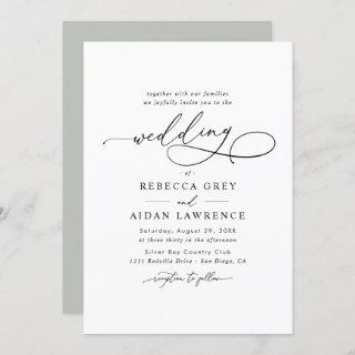 Elegant Script Minimal Wedding Invitations