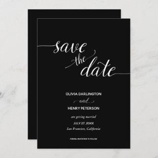 Elegant Script Wedding Save the Date Cards