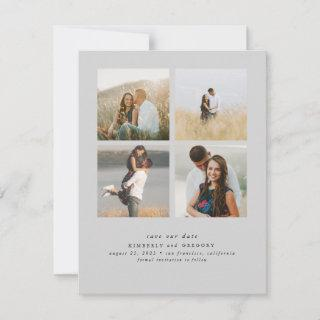 Elegant Simple and Cute Four Photos Save the Date