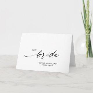 Elegant To My Bride on Our Wedding Day Card