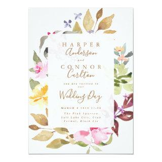 Elegant Watercolor Beautiful Wedding Invitations