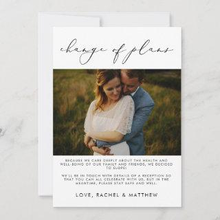 Elegant Wedding Elopement/Change of Plans Photo Announcement
