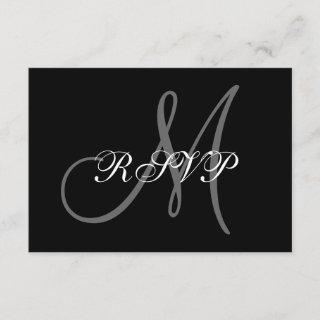 Elegant Wedding RSVP Card with Monogram