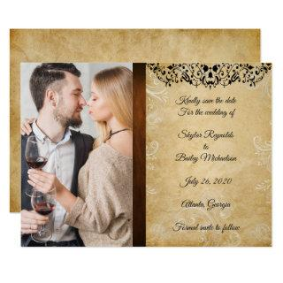 Elegant Wedding Save The Date Invitations