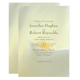 Elegant White Calla Lily Wedding Invitation
