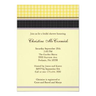 Elegant Yellow and Black Invitations