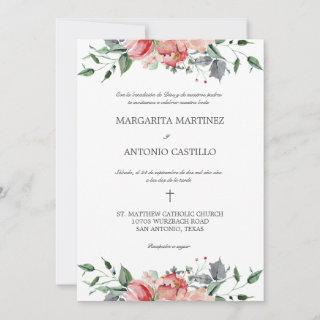 Elizabeth Invitacion de Boda Catolica Wedding Invitation