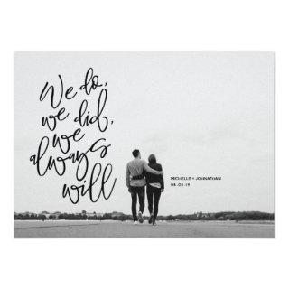 Elopement announcement and Invitations card