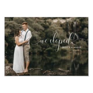 Elopement Wedding Invitations With Photos