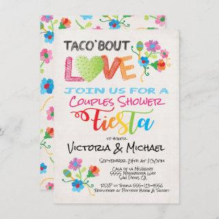 Embroidery Taco 'bout Love couples shower invite