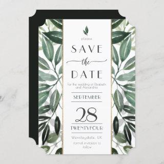 Emerald Forest Gilded Frame Invitations