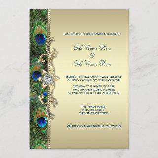 Emerald Green and Gold Peacock Wedding