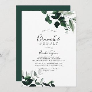Emerald Greenery Brunch and Bubbly Bridal Shower