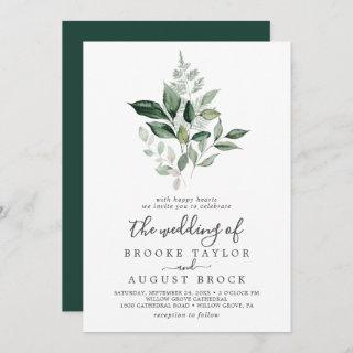 Emerald Greenery The Wedding Of Invitation