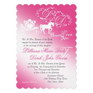 Enchanted Carriage Fairy Tale Wedding Invitations