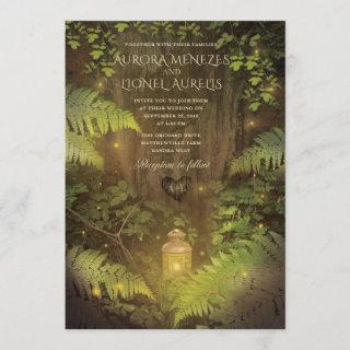 Enchanted Forest Secret Garden Dream Wedding Card