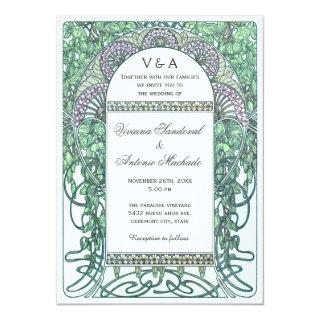 Enchanted Garden Vintage Wedding Invitations