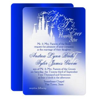 Enchanted Royal Blue Story Book Wedding Invitations
