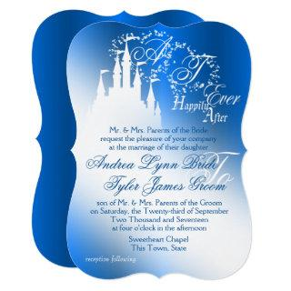Enchanted Sapphire Blue Story Book Wedding Invitations