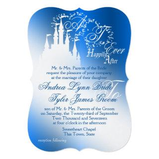 Enchanted Sapphire Blue Story Book Wedding Invitation