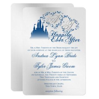 Enchanted Silver Blue Story Book Wedding Invitation
