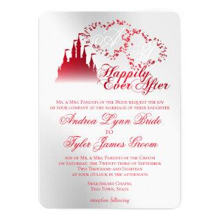 Enchanted Silver Red Story Book Wedding Invitations