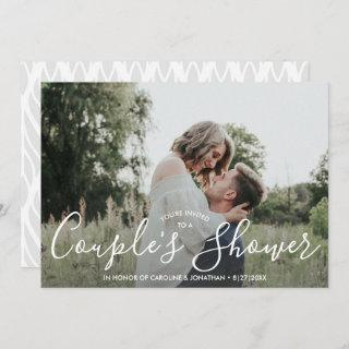 Engaged Couple's Shower Invitations Modern Photo